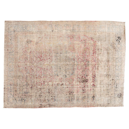 "Distressed Persian Carpet, 10'2"" x 14'"