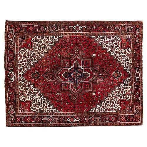"Persian Heriz Rug, 8' x 10'7"""