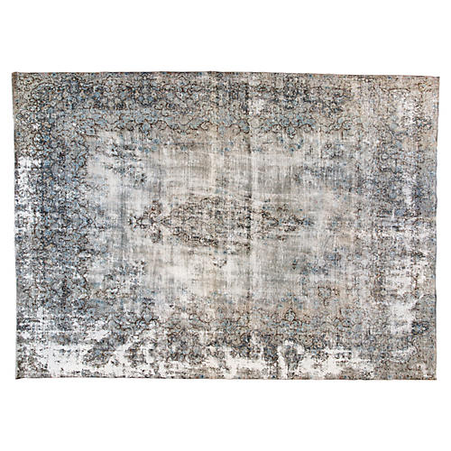 """Distressed Persian Carpet, 9'8"""" x 13'3"""""""