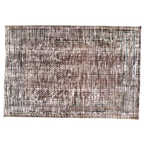 "Distressed Persian Rug, 7' x 10'5"""