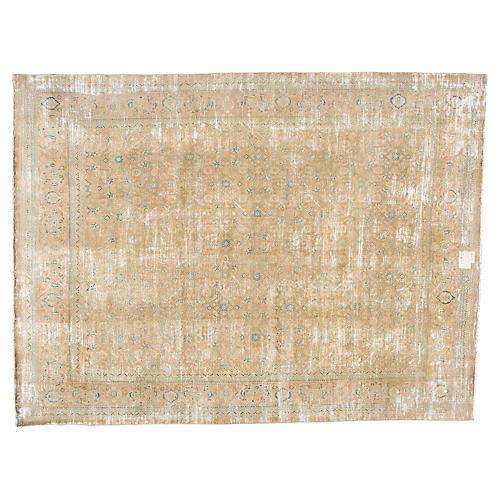 """Distressed Persian Carpet, 9'6"""" x 12'8"""""""