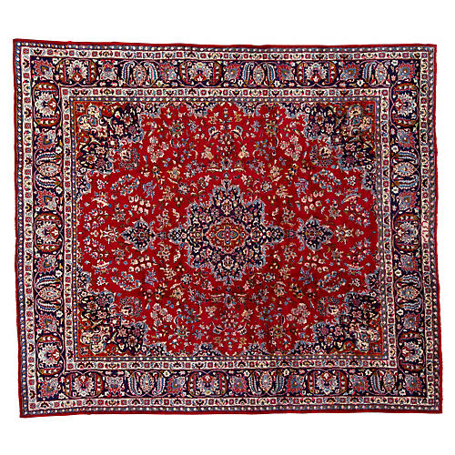 "Vintage Persian Rug, 9'4"" x 10'8"""