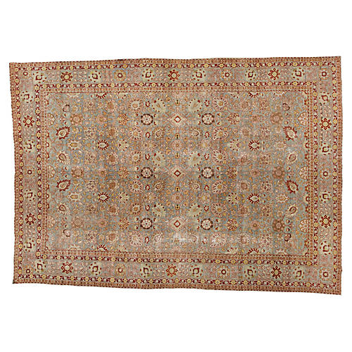 "Antique Tabriz Rug, 9'0"" x 12'10"""