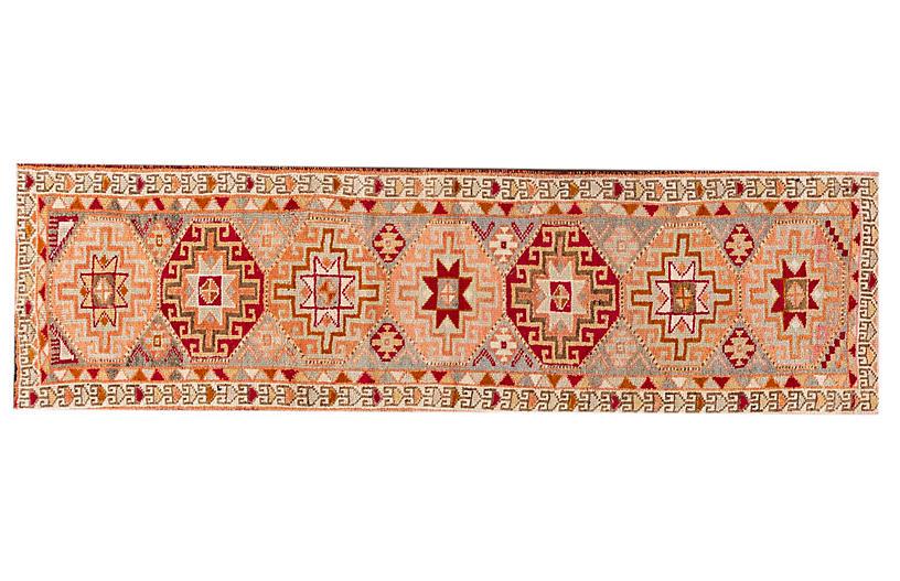 Vintage Turkish Anatolian Wool Runner