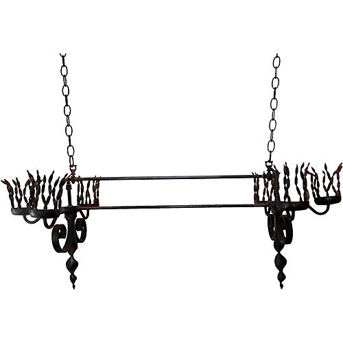 Gothic Iron Candle Chandelier