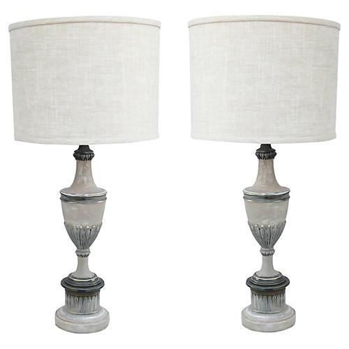Stifel Regency Style Table Lamps, Pr.