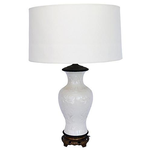 Blanc de Chine Lamp w/ Linen Shade