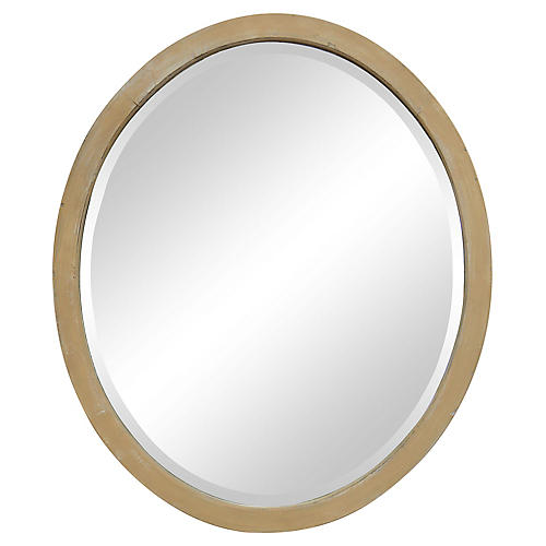 Handcut Oval Beveled Mirror