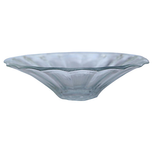 Pleated Crystal Bowl