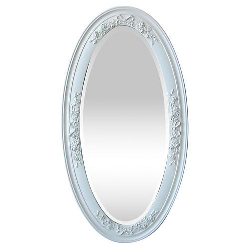 Victorian Oval Beveled Mirror