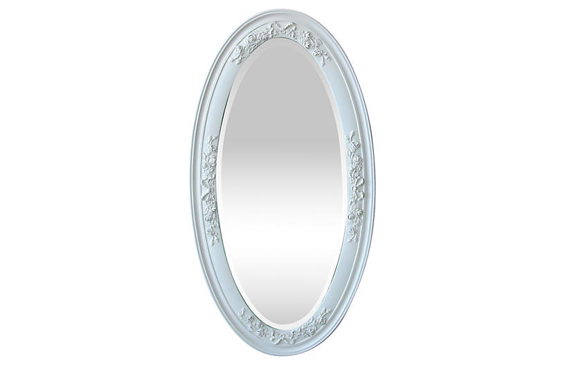 Victorian Oval Beveled Mirror