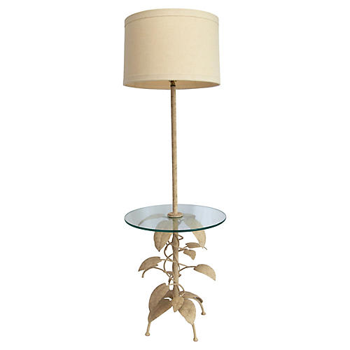 Eric Cooper Floor Lamp w/ Glass Table