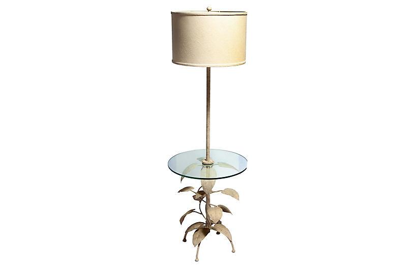 Eric Cooper Floor Lamp w/ Glass Table