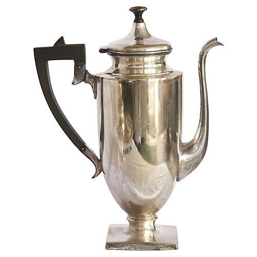 Monogrammed English Teapot