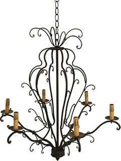 a vintage european christmas market one kings lane Contemporary Use of French Empire Interior wrought iron chandelier