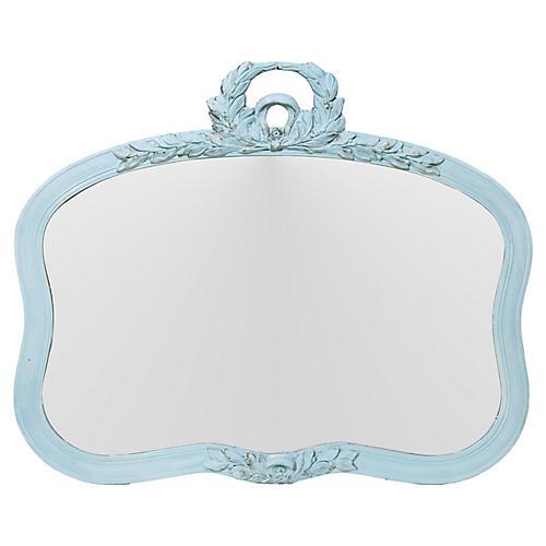 Curvy Garland Trimmed Mirror