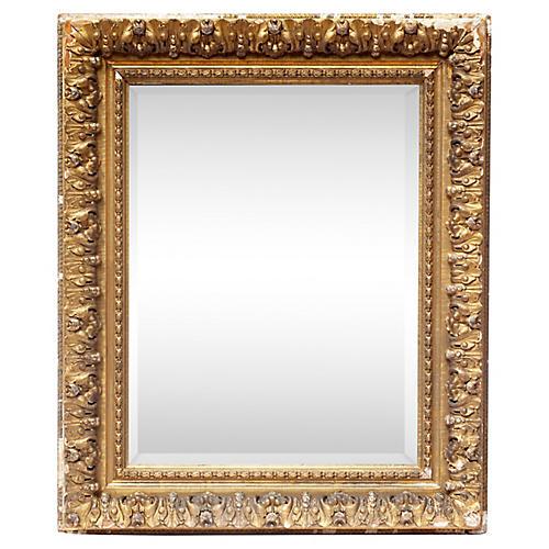 Antique Gold Beveled Mirror