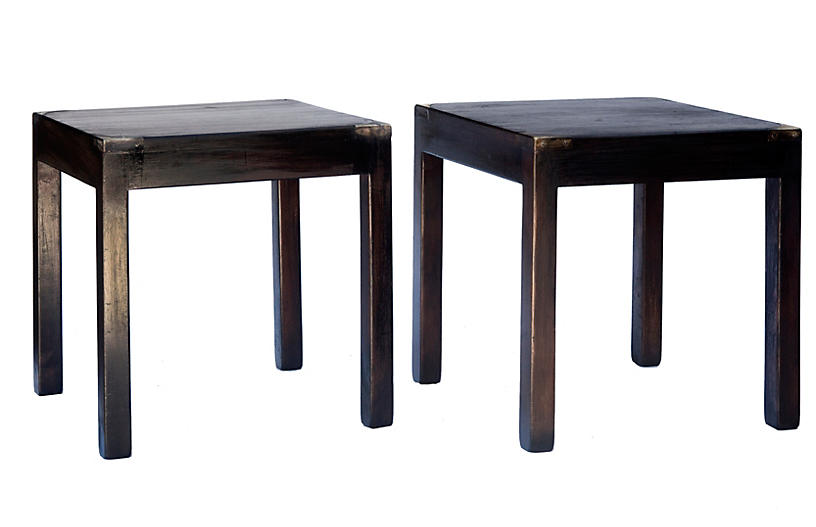 Asian Stacking Tables, a pair
