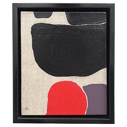 Red Moon III, Acrylic on Canvas