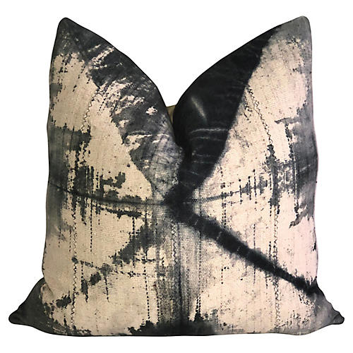 Tie-Dye Mud Cloth & Linen Pillow