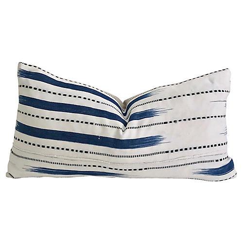 African Indigo & Linen Pillow
