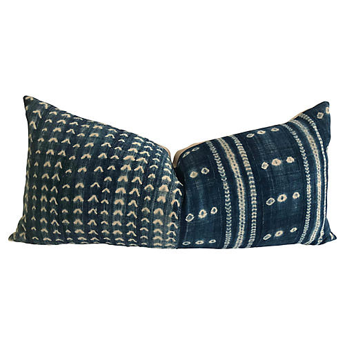 Indigo & Linen Body Pillow
