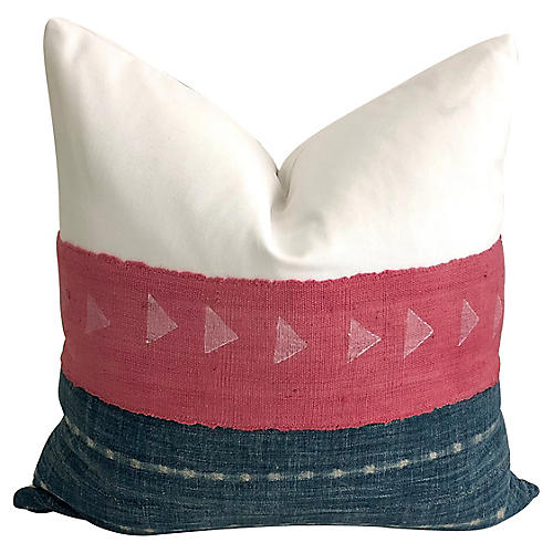 Pink Mudcloth & Mali Indigo Pillow