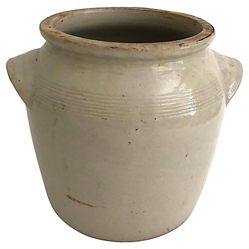 Antique French Burgundy Confit Pot