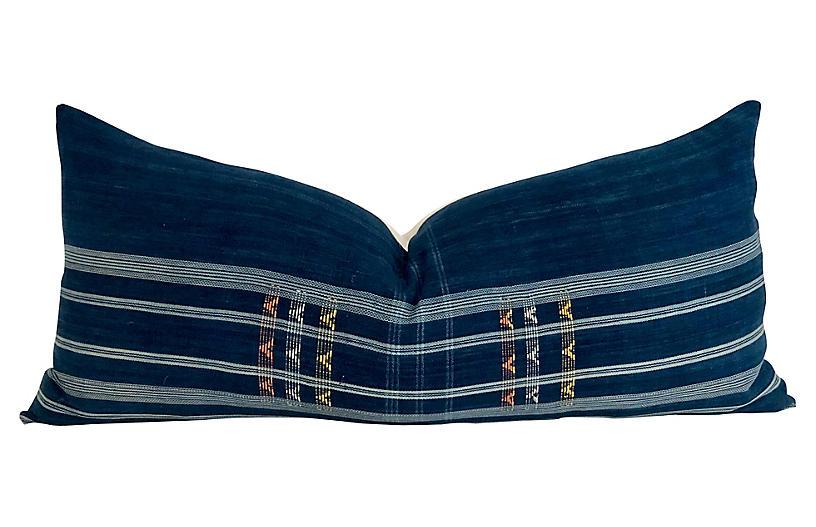 African Indigo Textile Body Pillow