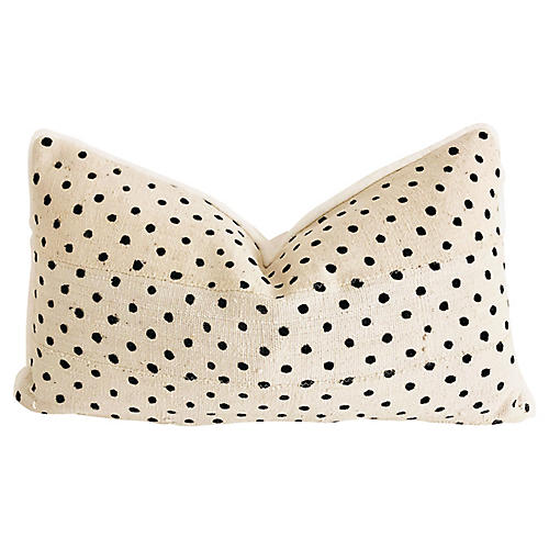 Mud-Cloth & Faux-Fur Lumbar Pillow