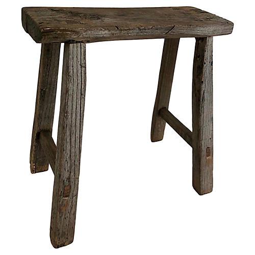 Rustic Antique Elm Stool