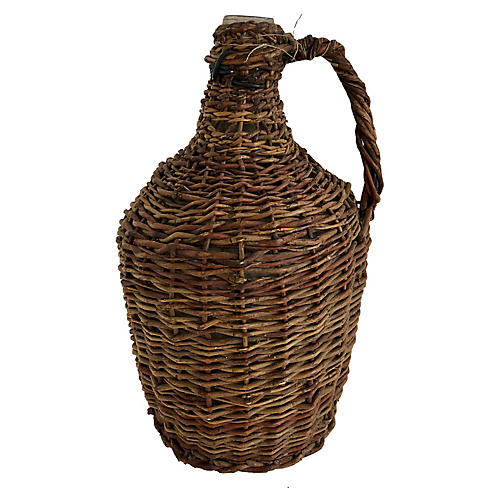 French Willow Wrapped Demijohn