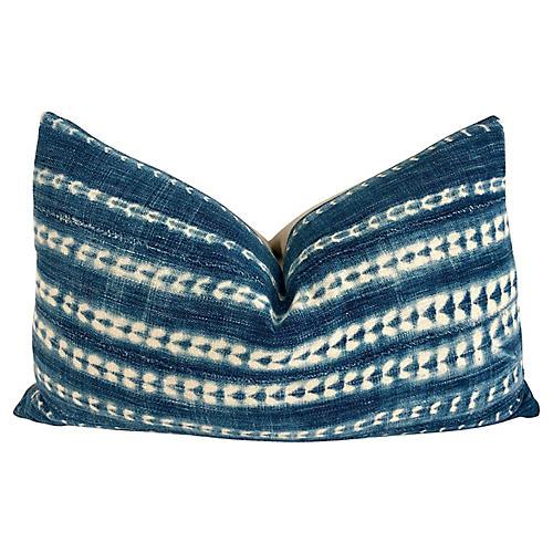 Mali Indigo & Linen Lumbar Pillow