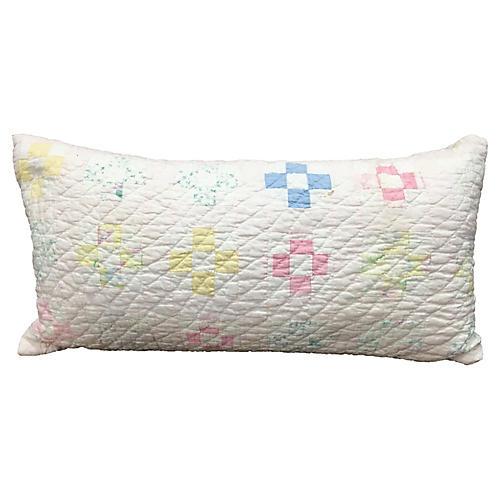 Baby Quilt Lumbar Pillow