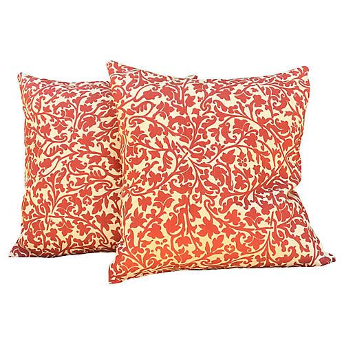 Bennison Linen Pillows, Pair