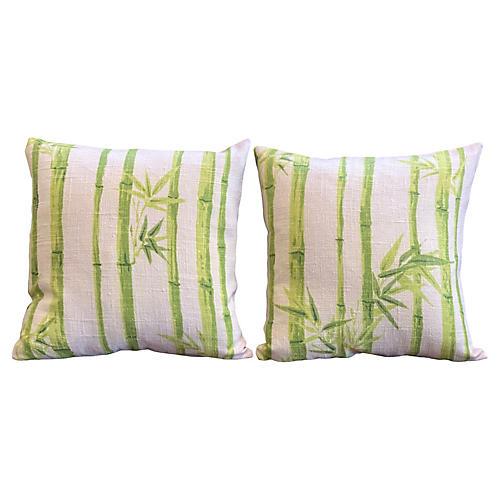 Bamboo Linen Pillows, Pair