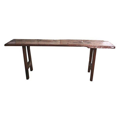 Javanese Serving Table & Bench