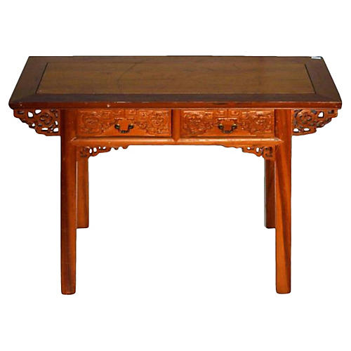 Antique Chinese Carved Table & Desk