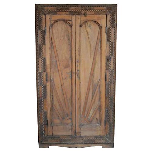 Antique Carved Indian Cabinet