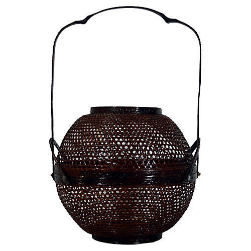 Chinese Lacquered Lunch Basket