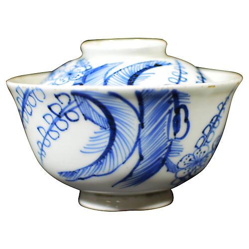 Antique Japanese Blue & White Bowl