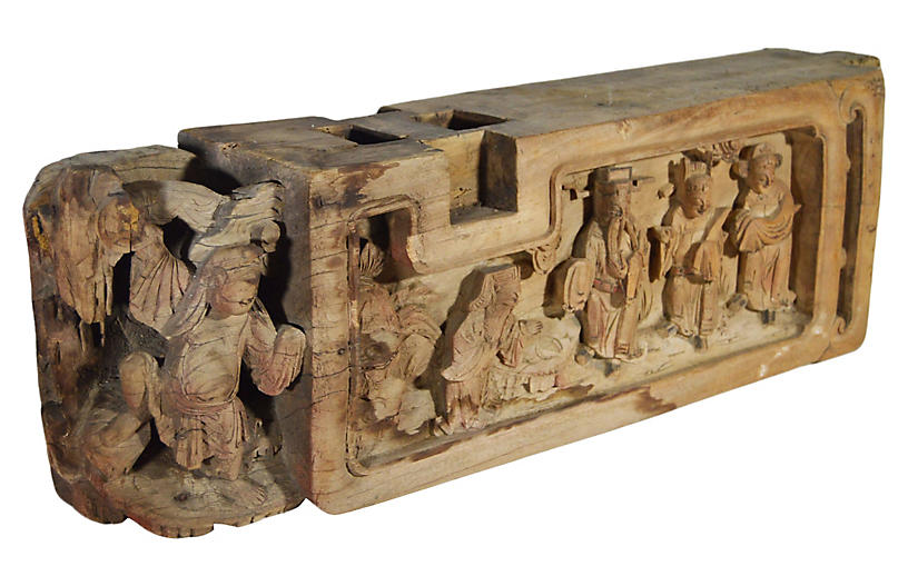 Antique Chinese Temple Carving