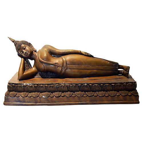 Reclining Buddha Bronze Thai Statue