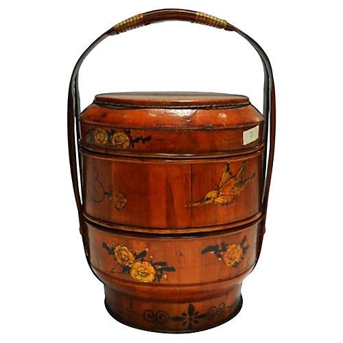 Antique Hand-Painted Wedding Box