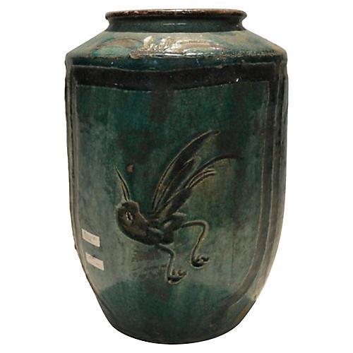 Antique Glazed Ceramic Hunan Vase