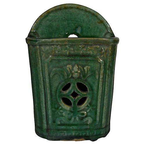 Hunan Green Glazed Wall Vase