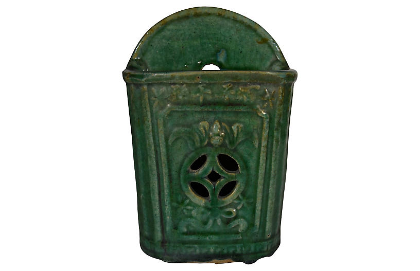 Hunan Green Glazed Wall Vase