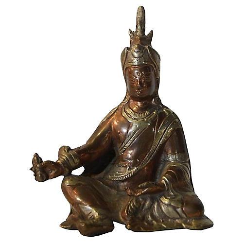 Copper Buddha Figurine