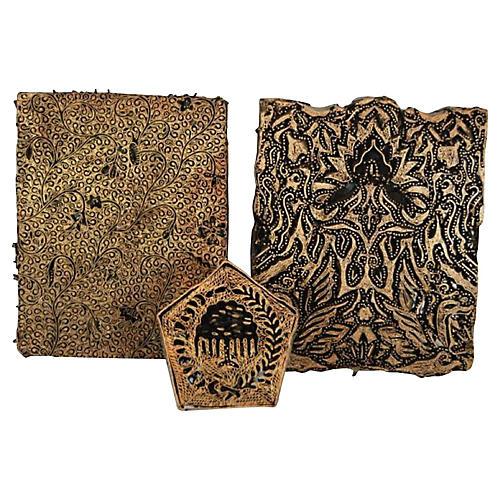 Batik Stamp Blocks, S/3