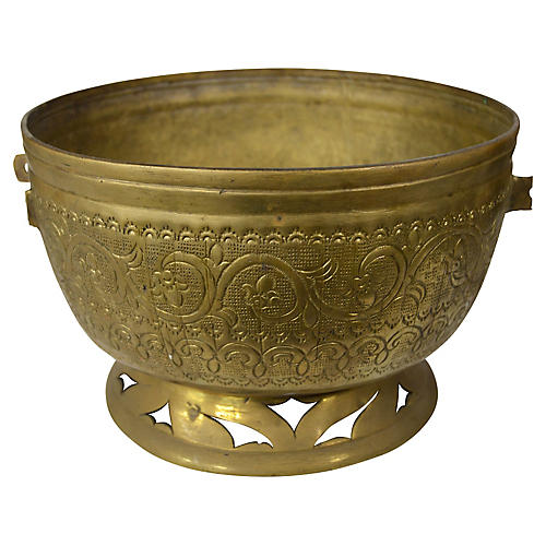 Antique Indian Brass Planter